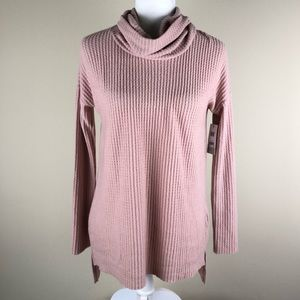 BP Funnel Neck Thermal Pink Top Oversized XXS